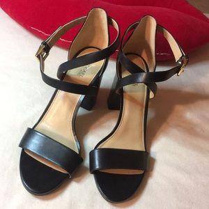 Michael Kors Black Chunky Heel Sandals Size 9M